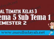 SOAL KELAS 3 TEMA 5 SUB TEMA 1 EDISI REVISI TERBARU