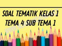 SOAL TEMATIK KELAS 1 SD TEMA 4 SUB TEMA 1