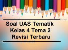 Soal UAS Tematik Kelas 4 Tema 2 Revisi Terbaru