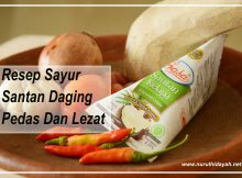 resep sayur santan daging pedas