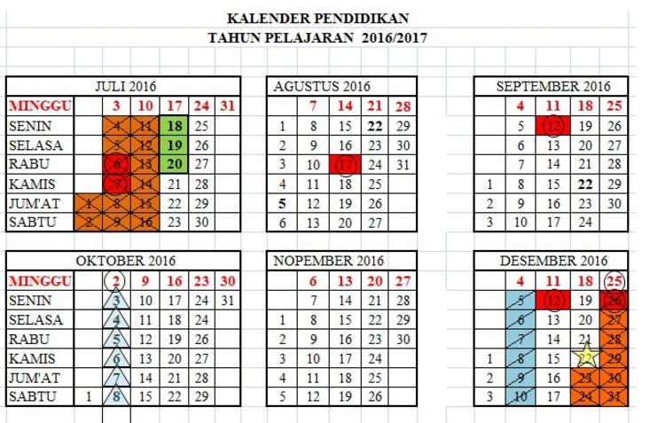 kalender pendidikan 2016 2017