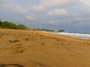 Pasir putih di pantai bajul mati
