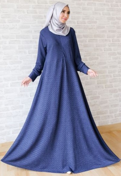 Baju Lebaran gamis polos