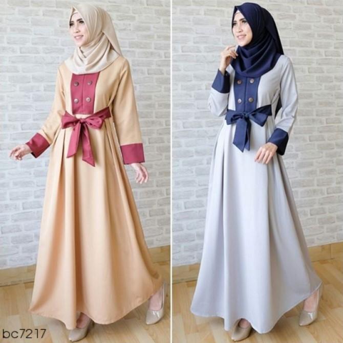 Baju Lebaran gamis simpel