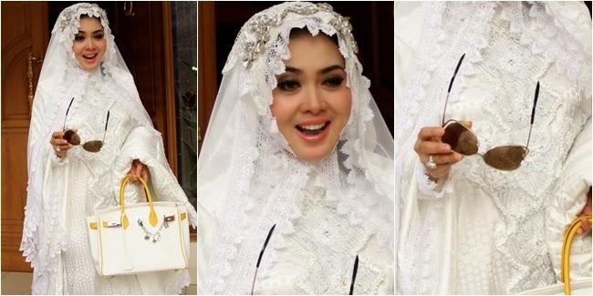 Model Baju Muslim Syahrini lebaran