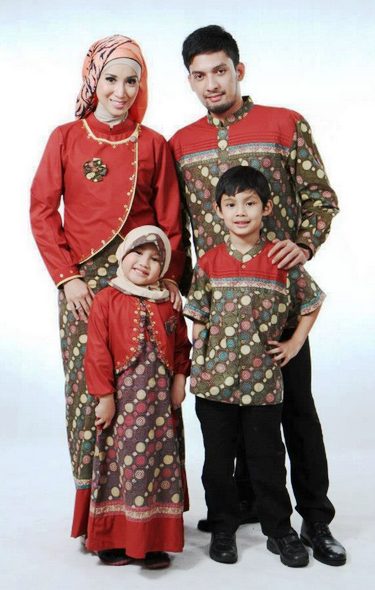 Model-baju-batik-gamis-sarimbit-terbaru lebaran