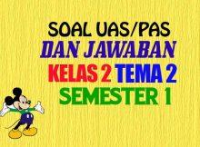 Soal Kelas 2 SD Tematik UAS Tema 2