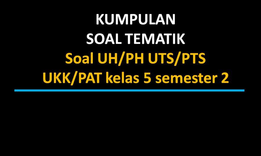 Soal UH/PH UTS/PTS UKK/PAT kelas 5 semester 2