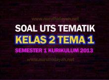 Soal UTS Tematik Kelas 2 Tema 1 Semester 1 Kurikulum 2013