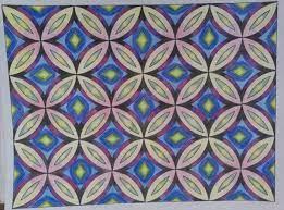 dekoratif Motif geometri