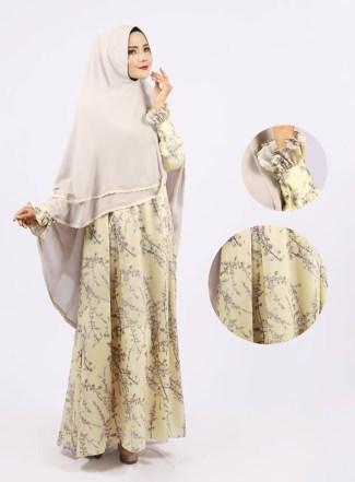 Model Baju Gamis Lebaran Brokat untuk Wanita Gemuk Terbaru