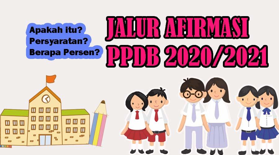 jalur afirmasi ppdb 2020