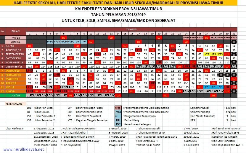 kalender pendidikan 2018/2019