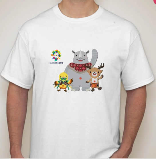 kaos merchandise asean games