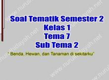 Kumpulan Soal Tema 7 Kelas 1 SD Sub Tema 2