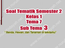 Latihan Soal Tema 7 Kelas 1 Sub Tema 3