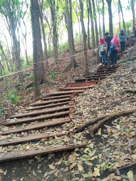 Tangga menuju Goa Bolet Widhe Sendang Harjo